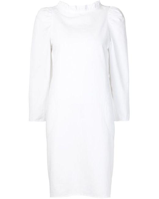 ATLANTIQUE ASCOLI   Женское Белое Платье С Плиссированным Воротником