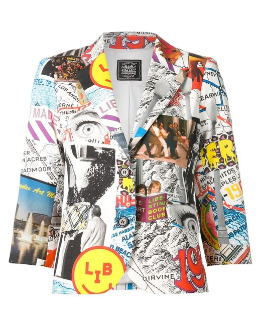 Libertine | Женское Белый Collage Print Blazer