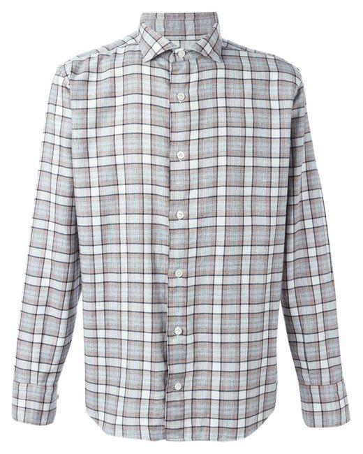 Eleventy | Мужское Nude & Neutrals Checked Shirt