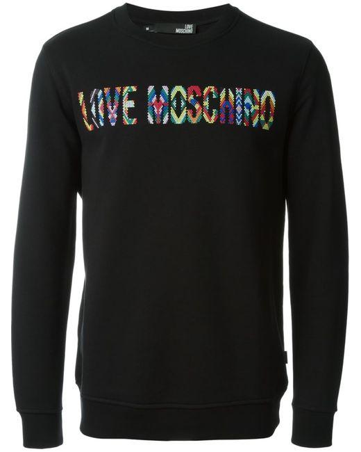 Love Moschino | Мужское Чёрный Beaded Logo Sweatshirt