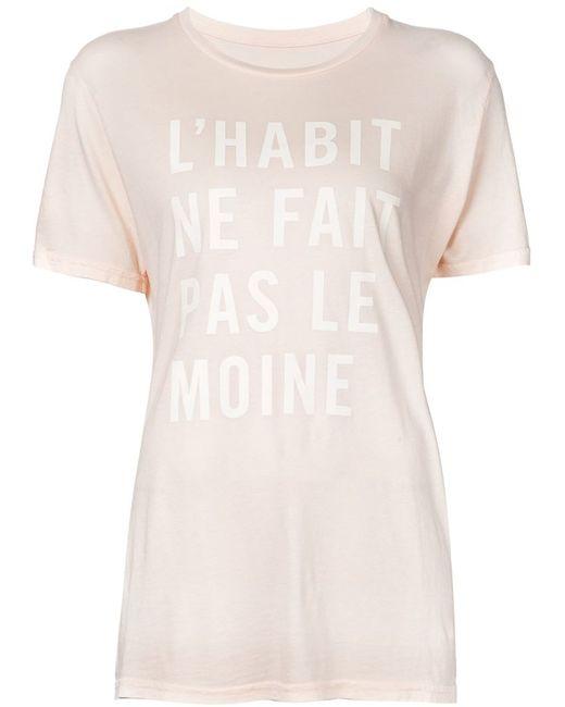 Clare Vivier | Женская Nude & Neutrals Футболка Lhabit Ne Fait Pas Le Moine