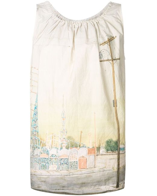 Dosa | Женская Белая Блузка Watts Towers