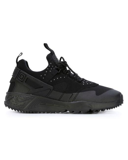 Nike | Женские Чёрные Кроссовки Air Huarache Utility
