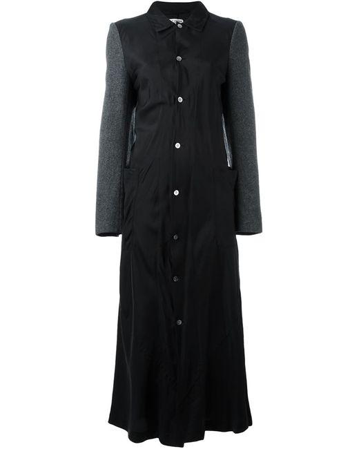 Comme Des Garcons | Женское Чёрное Пальто С Контрастными Рукавами