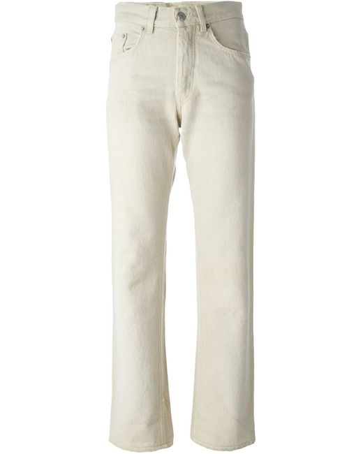 HELMUT LANG VINTAGE | Женское Nude & Neutrals Distressed Straight Leg Jeans