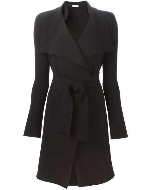 SCANLAN THEODORE | Женское Чёрное Пальто С Поясом