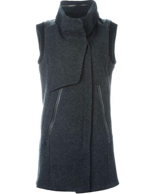 DEMOO PARKCHOONMOO | Женское Серый Funnel Neck Sleeveless Coat