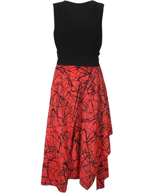 Proenza Schouler | Женское Чёрный Flocked Layered Dress