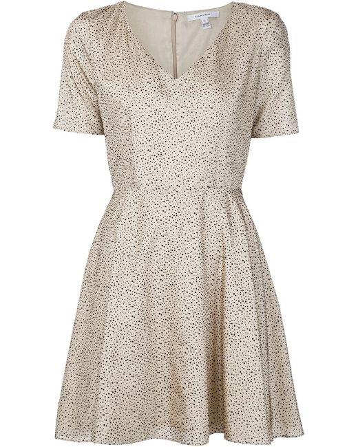 Carven | Женское Белое Платье С V-Образным Вырезом