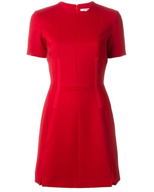 Carven | Женское Красное Платье А-Образного Силуэта