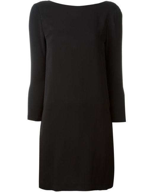 Tom Ford | Женское Чёрное Платье С Драпировкой На Спине