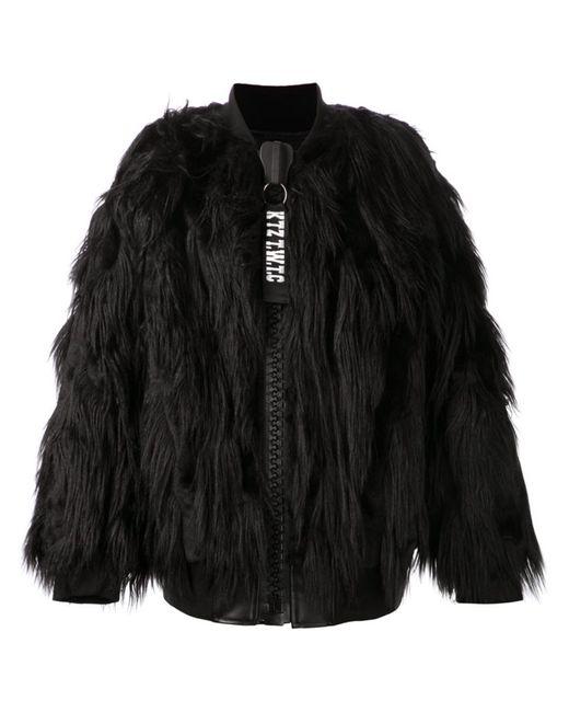 Ktz | Мужская Чёрная Куртка Из Искусственного Меха