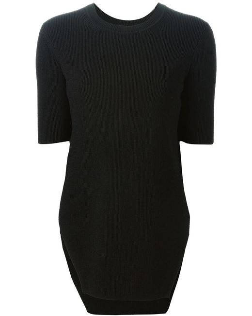 SCANLAN THEODORE | Женское Чёрный Crepe Blunt Hem Sweater