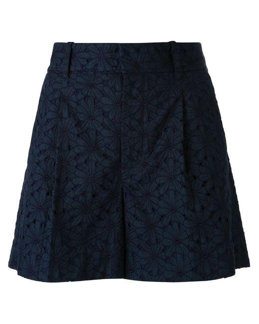 SCANLAN THEODORE   Женское Синий Embroidered Shorts
