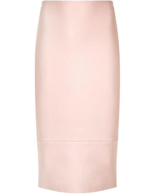 SCANLAN THEODORE | Женское Розовый Leather Pencil Skirt