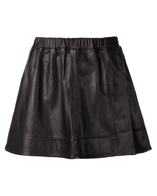 Iro | Женская Чёрная Кожаная Мини-Юбка