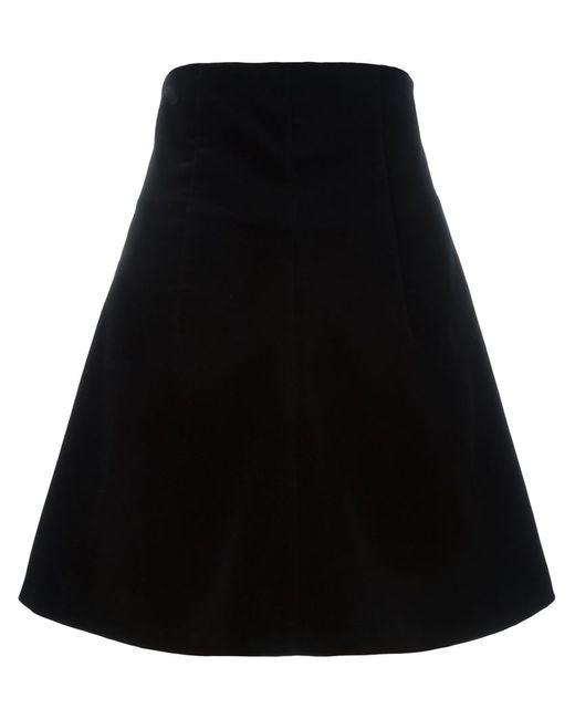 Red Valentino | Женское Чёрный Velvet A-Line Skirt
