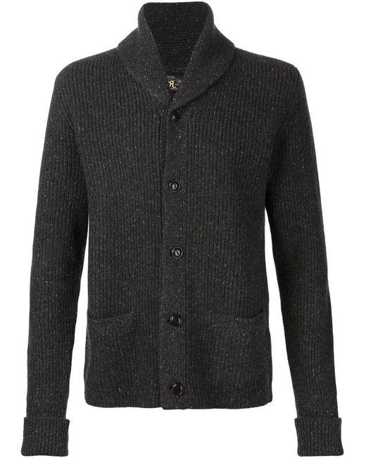 RRL | Мужское Серый Ribbed Shawl Collar Cardigan