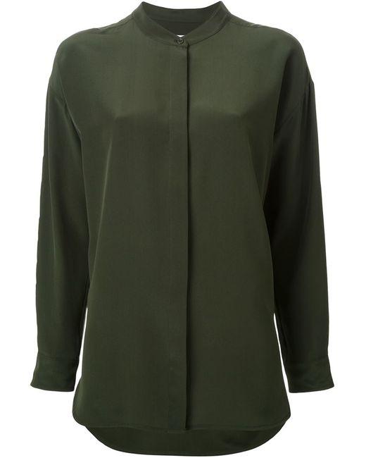SCANLAN THEODORE | Женская Зелёная Рубашка С Воротником-Стойкой