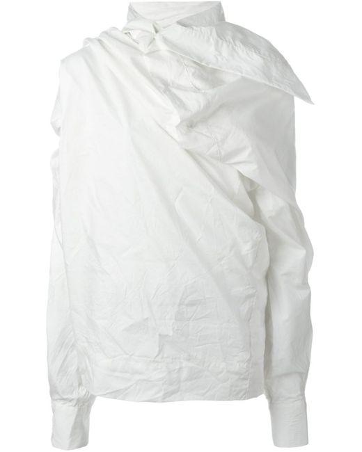 Vivienne Westwood Gold Label   Женская Белая Драпированная Блузка