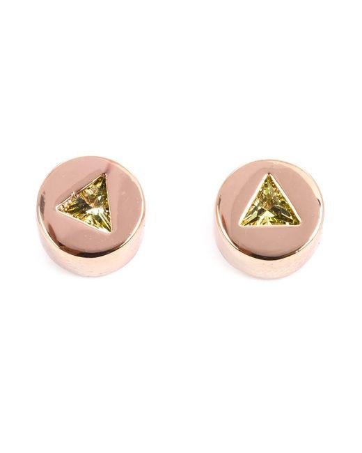 Eddie Borgo | Женское Серебристый Triangle Embellishment Round Earrings