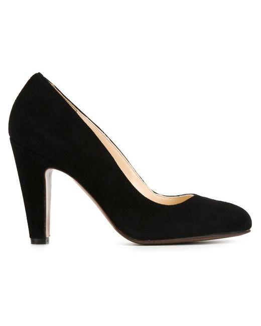 L' Autre Chose   Женские Чёрные Туфли На Закругленным Носком