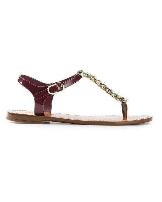 Dolce & Gabbana | Женское Коричневый Embellished Strap Sandals