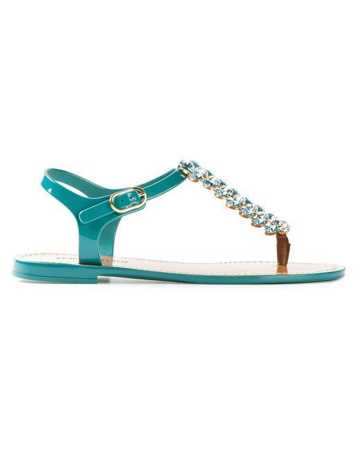 Dolce & Gabbana | Женское Синий Embellished Sandals