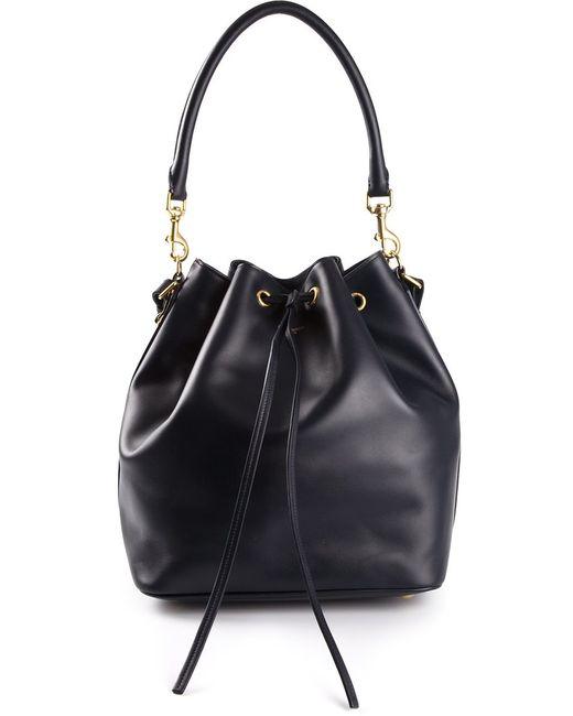 Saint Laurent | Женское Синий Seau Medium Bucket Bag