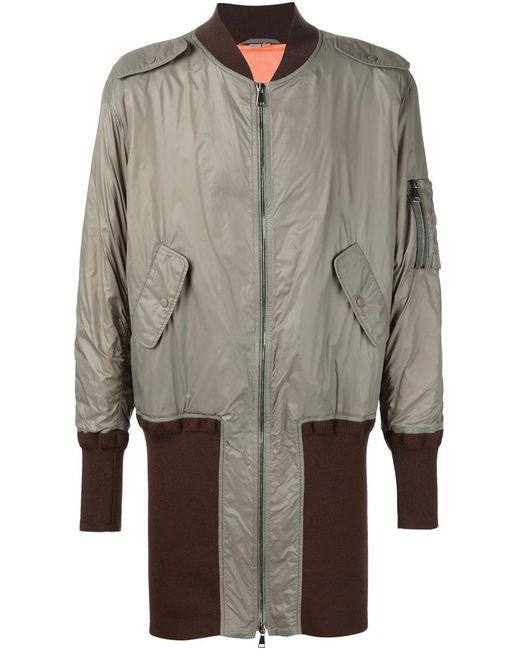 Vivienne Westwood   Мужское Серое Пальто-Бомбер Wadded Ma-1