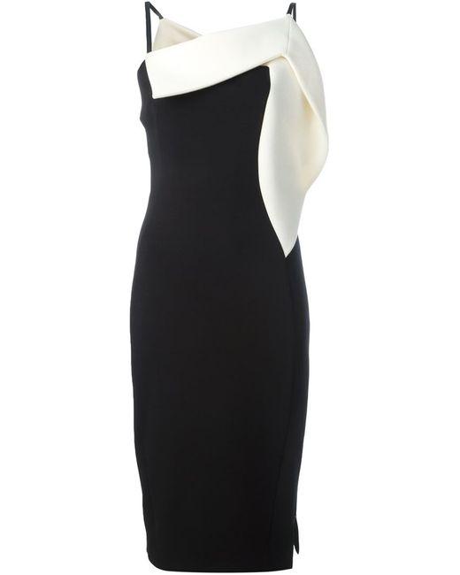 Antonio Berardi | Женское Чёрное Платье С Открытым Плечом