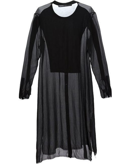 Rundholz | Женское Чёрное Прозрачное Платье-Рубашка