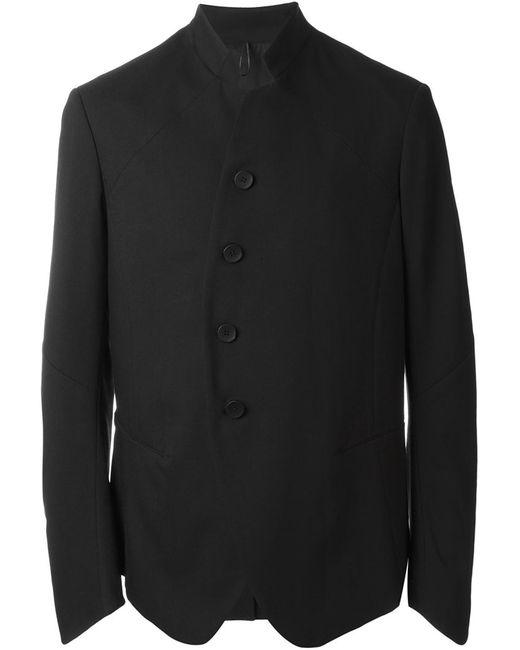 Masnada | Мужская Чёрная Куртка С Воротником-Стойкой