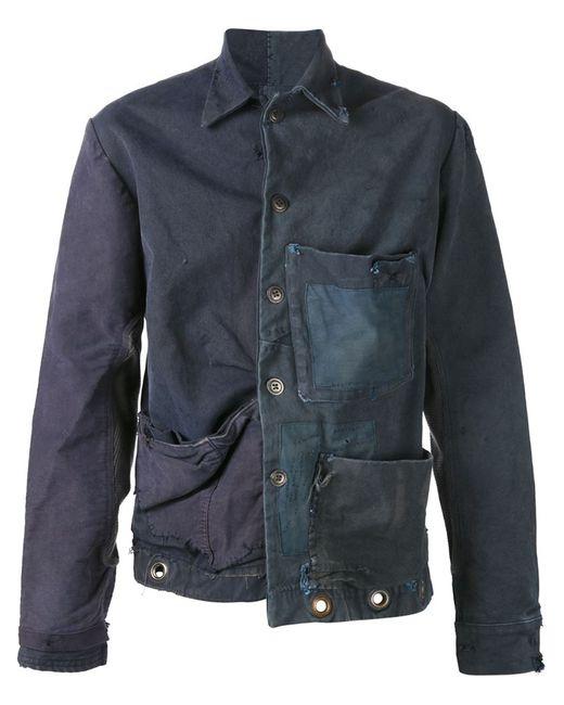 GREG LAUREN | Женская Синяя Куртка Единственного Экземпляра