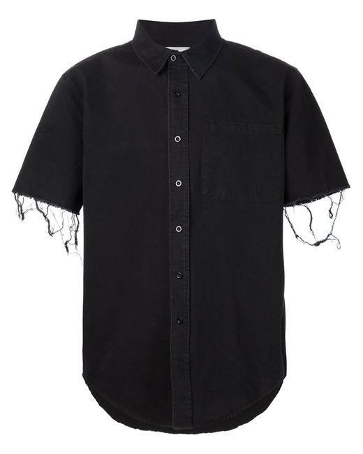 Unif | Мужская Чёрная Рубашка С Короткими Рукавами