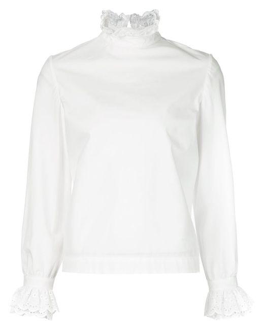 Co | Женская Белая Блузка С Длинными Рукавами