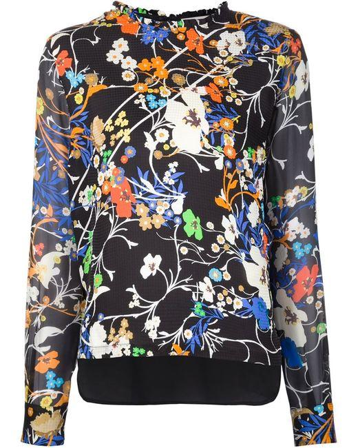 Preen By Thornton Bregazzi | Женская Серебристая Блузка С Цветочным Принтом