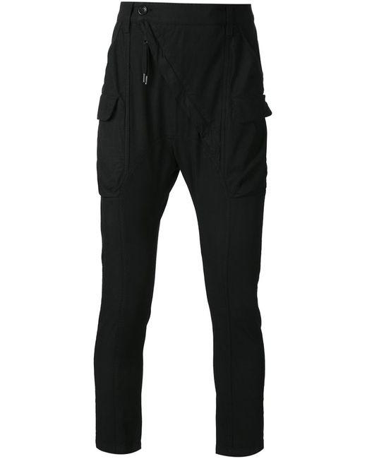 ALEXANDRE PLOKHOV   Мужское Чёрный Slim Fit Cargo Trousers