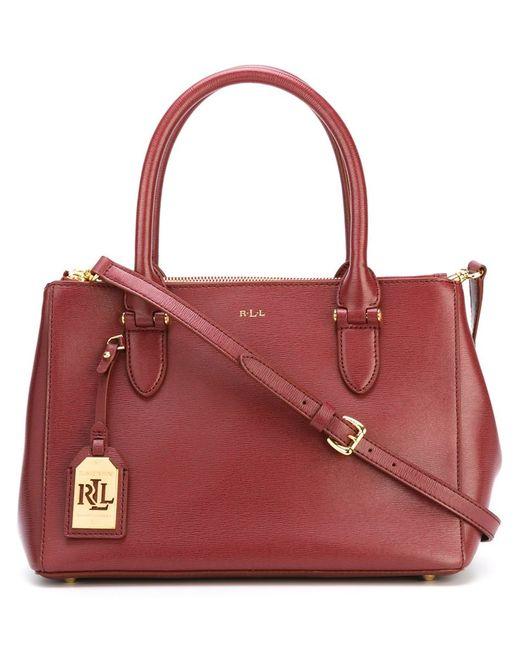 Polo Ralph Lauren | Женская Розовая Классическая Сумка-Тоут
