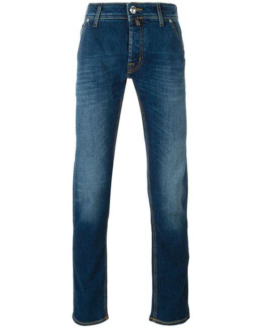 Jacob Cohёn   Мужское Синий Jacob Cohen Handkerchief Detail Jeans