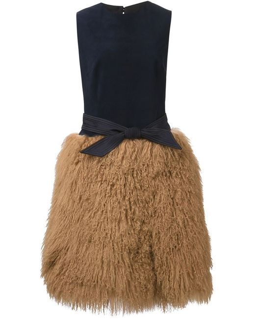Martin Grant | Женское Синий Matted Skirt Belted Dress
