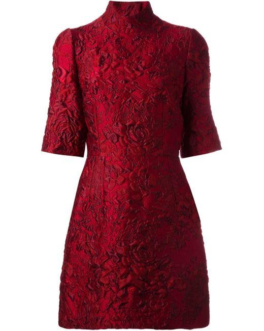 Dolce & Gabbana   Женское Красный Jacquard Mini Dress