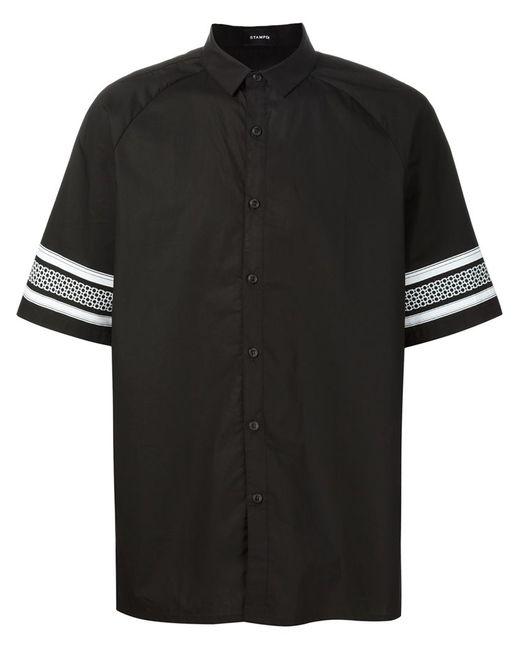 STAMPD | Мужская Чёрная Рубашка С Принтом На Рукавах