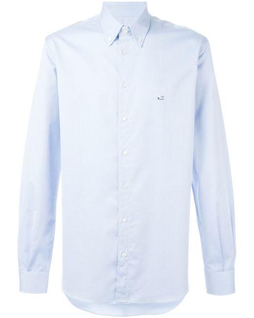Etro | Мужская Синяя Классическая Рубашка В Стиле Casual