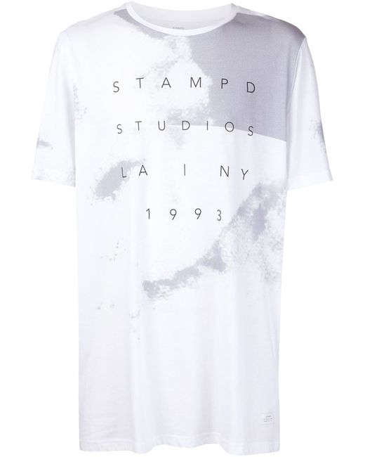 STAMPD | Мужское Белый Logo Printed T-Shirt