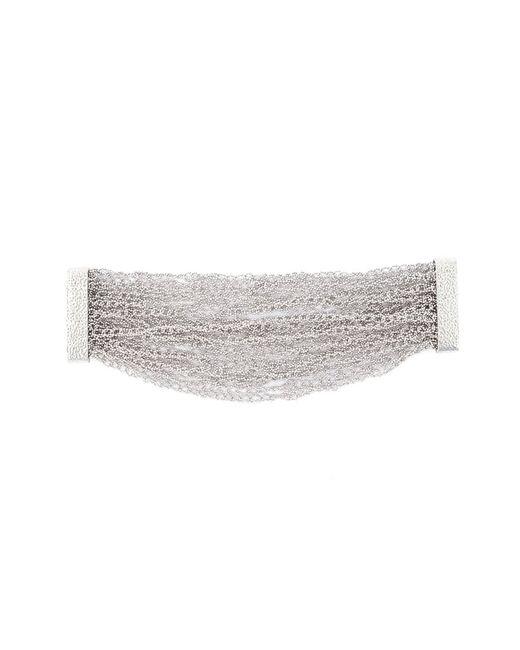 Rosantica | Женское Серебристый Penelope Crochet Chain Cuff