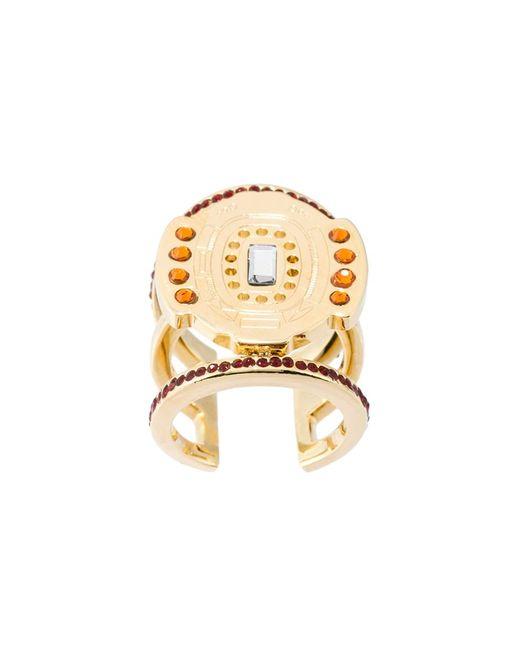 LEDA OTTO | Женское Серебристый Multiple Stone Adjustable Ring
