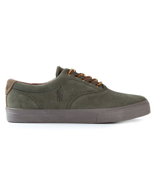 Polo Ralph Lauren | Мужские Зелёные Кеды С Кожаными Шнурками