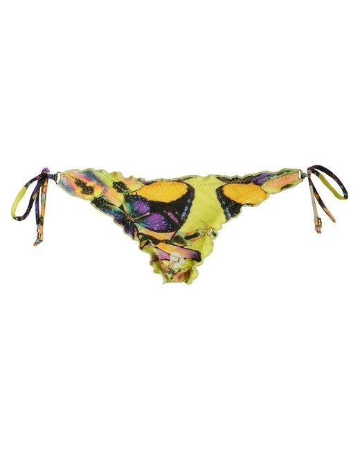 BLUE MAN   Женское Желтый Butterfly Side-Tie Bikini Bottom