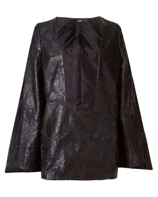 FERNANDA YAMAMOTO | Женское Чёрный Print Plunging Neck Coat